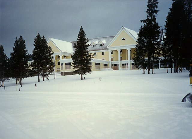 Lake Hotel, Yellowstone, Winter