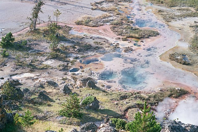 Looking Down From Paint Pot Hill, Yellowstone