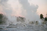 Grotto and Rocket Geysers, Upper Geyser Basin, Yellowstone